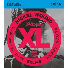 EXL145 XL NICKEL WOUND Струны для электрогитары Heavy 12-54 D`Addario