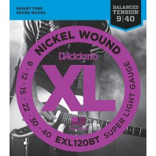 EXL120BT Nickel Wound Комплект струн для электрогитары, Super Light, 09-40, D'Addario