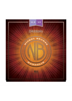 NBM11540 Nickel Bronze струны для мандолины Custom Medium, 11.5-40, D'Addario